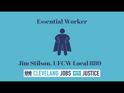 Jim Stilson, Local 880 Steward, Harvest Sherwood Foods, Truck Driver Honored as Essential Worker by Cleveland Jobs with Justice, August 2021. Thank you, Jim.  To all UFCW Members, BE SAFE.