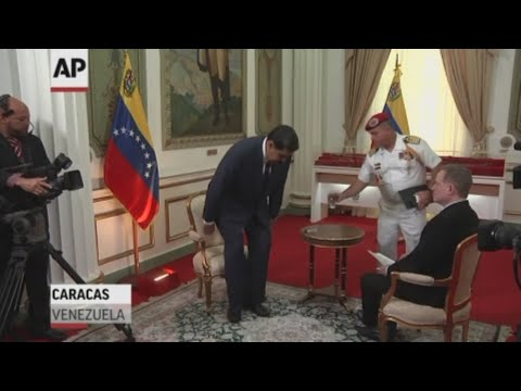 Venezuelan President Nicolas Maduro on Thursday blamed the economic sanctions imposed by the United States against Venezuela for the severe food and medicine shortages in the country. (Feb. 14)
