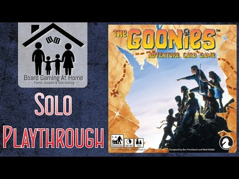 BoardGamingAtHome Solo Playthrough of The Goonies Adventure Card Game