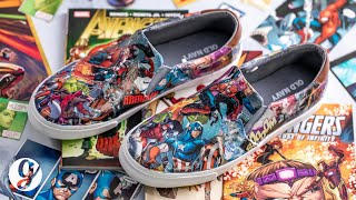 DIY Marvel Comic Book Shoes Are The Perfect Handmade Gift For Any Superhero Fan | GRATEFUL