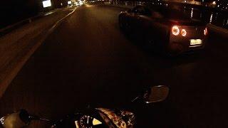 CBR600RR vs Nissan GTR. MOSCOW.