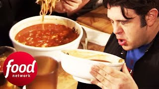 Adam Takes On A Mouth-Meltingly Spicy Ramen Challenge   Man v Food