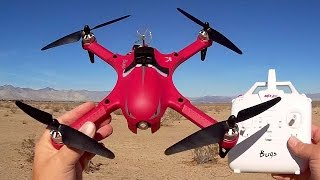 Red MJX Bugs 3 FPV Sport Drone Flight Test Review