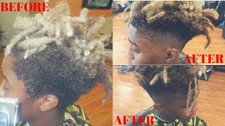 THOT BOY/FREEFORM DREAD FADE!!