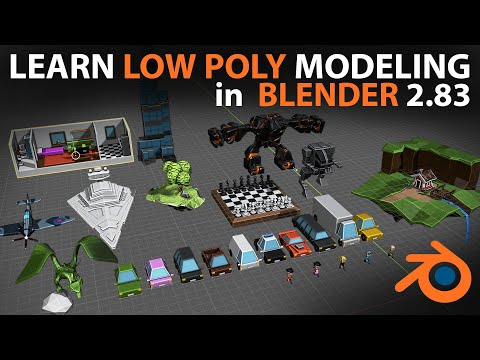 sculpture learn low poly modeling in blender 2.9 by imphenzia