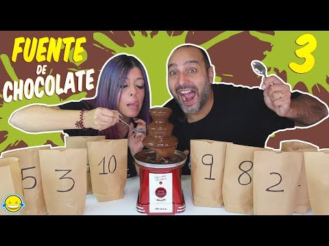 FONDUE de CHOCOLATE Challenge 3 Fuente de Chocolate Momentos Divertidos