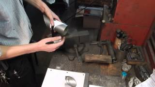 Home Shop Tips No. 16 - Making a 45 degree cut in exhaust pipe