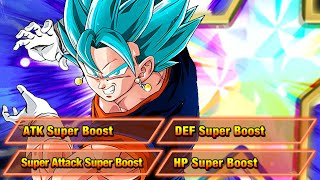 100% TEQ Vegito Blue Level 10 Links Showcase   Dragon Ball Z Dokkan Battle