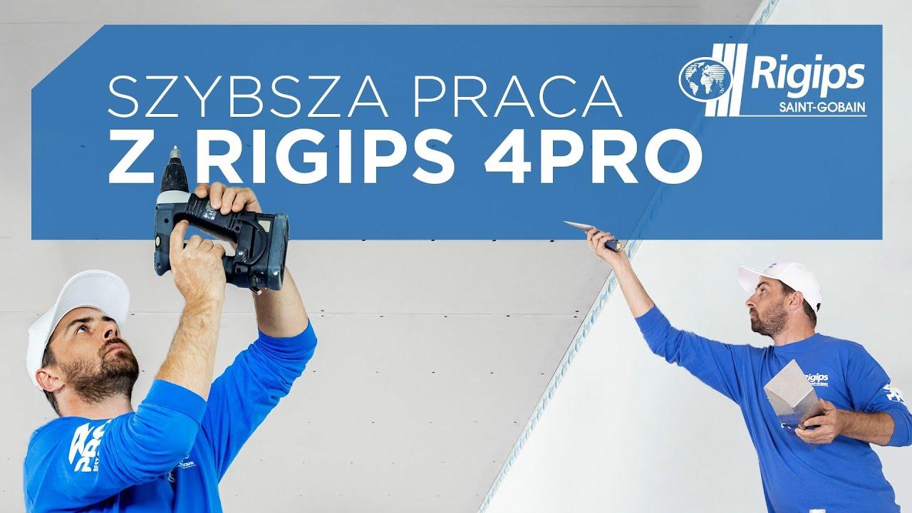 Płyty Rigips 4PRO™. Po co pracować dłużej, jak można krócej?!