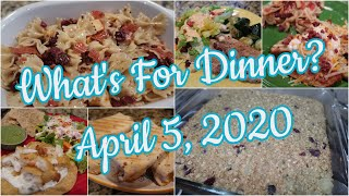 What's For Dinner?  Apr 5, 2020   Cooking for Two   Pantry Meals   Pizza Pasta Salad   Baked Oatmeal