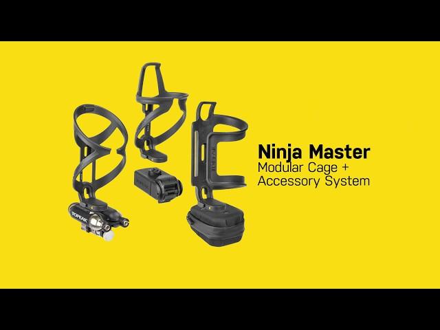 Видео Флягодержатель Topeak Ninja Cage X1AJ QuickClick