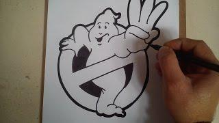 COMO DIBUJAR EL LOGO DE LOS CAZAFANTASMAS 3 / HOW TO DRAW LOGO Ghostbusters 3