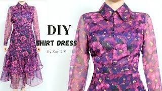DIY Long Sleeve Shirt Dress | Develop Basic Pattern | Zoe DIY