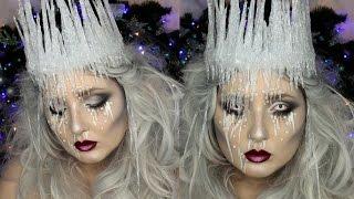 Ice Queen Makeup Tutorial | DIY Ice Crown | Jordan Hanz