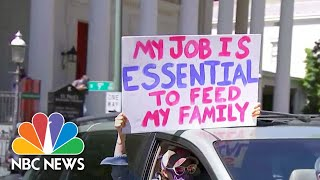New Protests Emerge Over Stay-At-Home Orders | NBC Nightly News