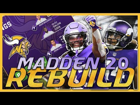 The Computer Drafted Me TWO Superstars! | Madden 20 Minnesota Vikings Rebuild
