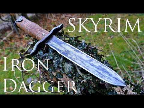 Dagger Making - Skyrim: Forging a Real Iron Dagger (Made of Steel) - YouTube