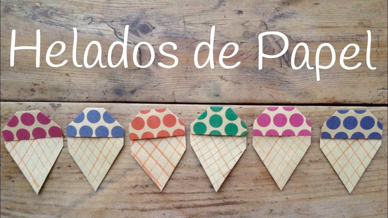HELADO de papel | Origami fácil para niños
