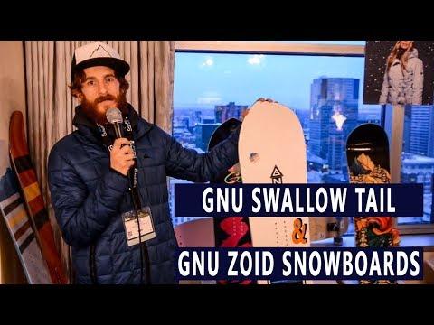 GNU Swallow Tail & GNU Zoid Snowboards