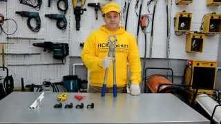 Как обжать метало пластиковую трубу механическими пресс-клещами