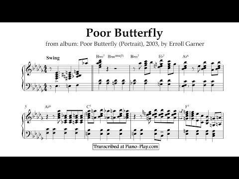 Erroll Garner - Poor Butterfly | from album: Poor Butterfly (Portrait), 2003 (transcription)