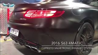 2016 Mercedes Benz S63 AMG 4Matic - Capristo Valvetronicn Exhaust System