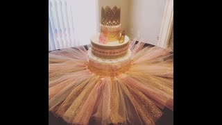 A Diaper Cake Fit For A Princess!