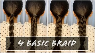 How To : 4 Basic Braid | Tutorial | Aasif Ahmed
