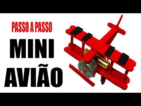 Aprenda como fazer um Avião Miniatura de Brinquedo com Motorzinho de DVD e Palitos de Picolé