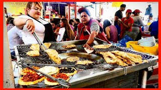 DEEP FRIED Quesadillas - Mexican Street Food At Local STREET Market In GUADALAJARA, Mexico