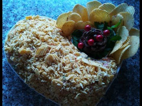Салат с ЧИПСАМИ на Праздничный стол.Быстрые и простые рецепты для дома
