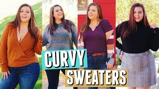 How To Style SWEATERS On A CURVY Body!