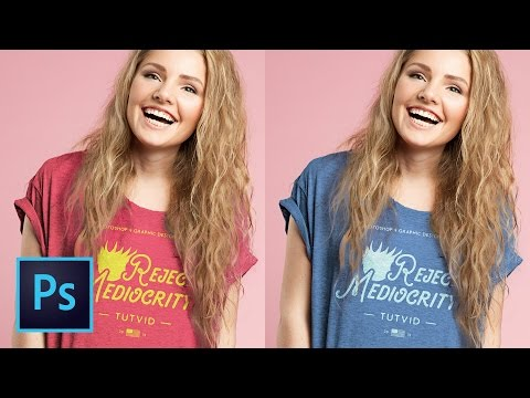 Video Create a Tshirt Mockup Composite Design in Photoshop CC (Free PSD Download!)