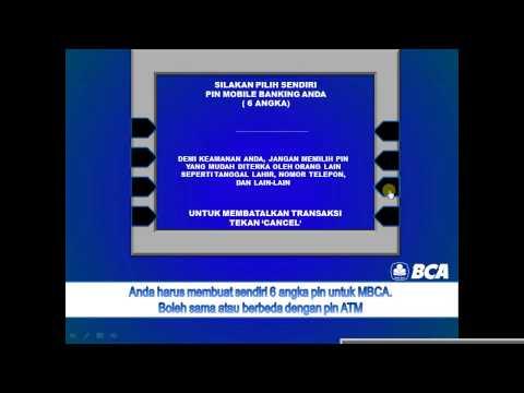Video Cara daftar Mobile Banking BCA (M-BCA) di mesin ATM