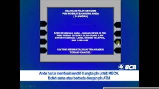 Cara Daftar Mobile Banking BCA MBCA Di Mesin ATM