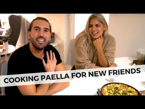 MAKING PAELLA AND SPANISH TAPAS -  COOKING FOR FRIENDS - FOOD FRIDAY FOOD VLOG