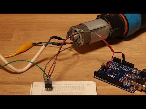 Drehzahl von großen Motoren über einen MOSFET (IRFZ44N) mit PWM regeln - Arduino Projekt