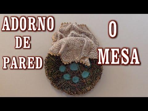 DIY CENTRO PARA PARED O MESA EN MARAÑA RECICLADO - WALL OR TABLE DECORATION.