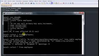 Import CSV data into MySQL table using query