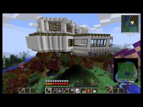 Minecraft Modsauce - Archimedes' Ships - A Flying Base - E01
