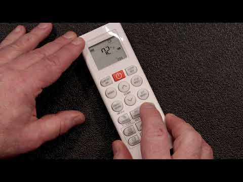 LG Ductless Remote Control Tutorial