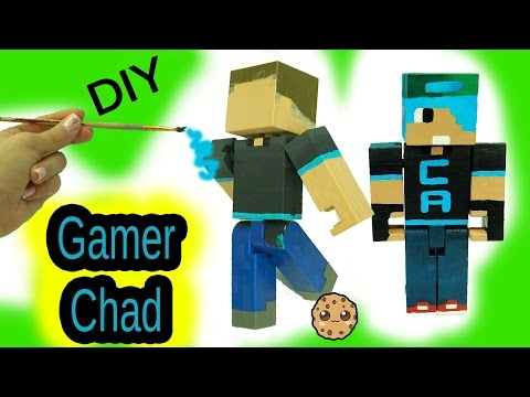 DIY Custom Gamer Chad Minecraft Toy – Acrylic Paint Painting Do It Yourself Craft Video