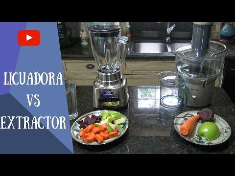 Extractor de jugos y licuadora- Comparación de jugos