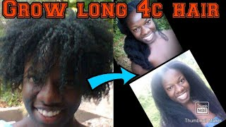 Long 4c Hair Growth,how I Retain 8 Years Natural Hair Length,and Tutorial To Grow 4c Hair Intro #1