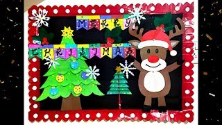 Christmas School Bulletin Board | Christmas Display Board Idea | Christmas Notice Board Decoration