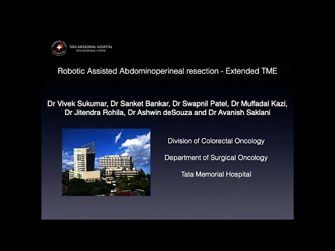Robotic Assisted Abdominoperineal Resection – Extended TME