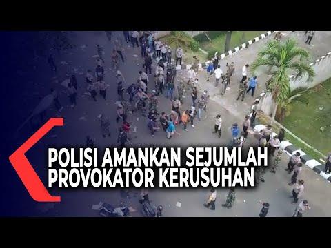 polisi amankan sejumlah oknum diduga provokator kericuhan unjuk rasa