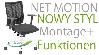 NOWY STYL Net Motion Bürostuhl Aufbau/Montage Anleitung + Funktionen