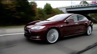 04/10/2012 Tesla model S testkørsel.