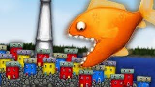 Приключение маленькой ГОЛОДНОЙ РЫБЫ Съешь все подряд #1 Веселая игра СЪЕСТЬ ОКЕАН
